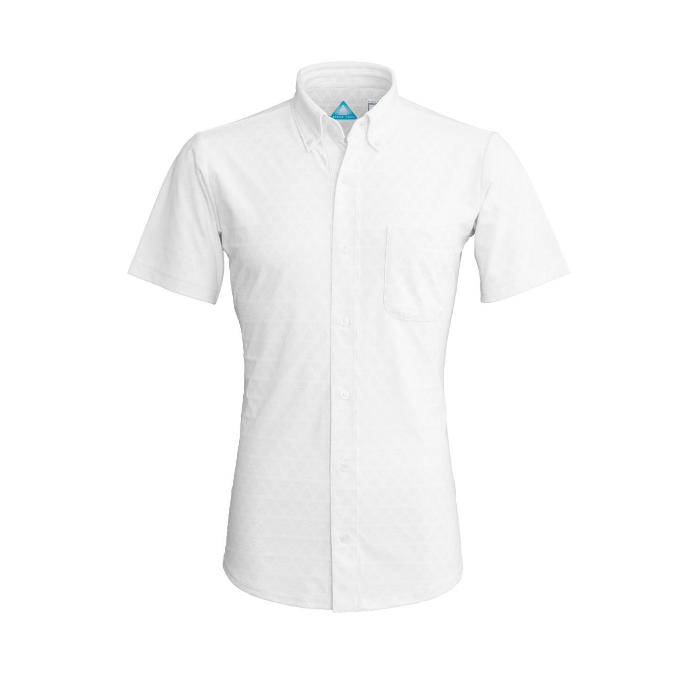 写真:冷却半袖ボタンダウンシャツ