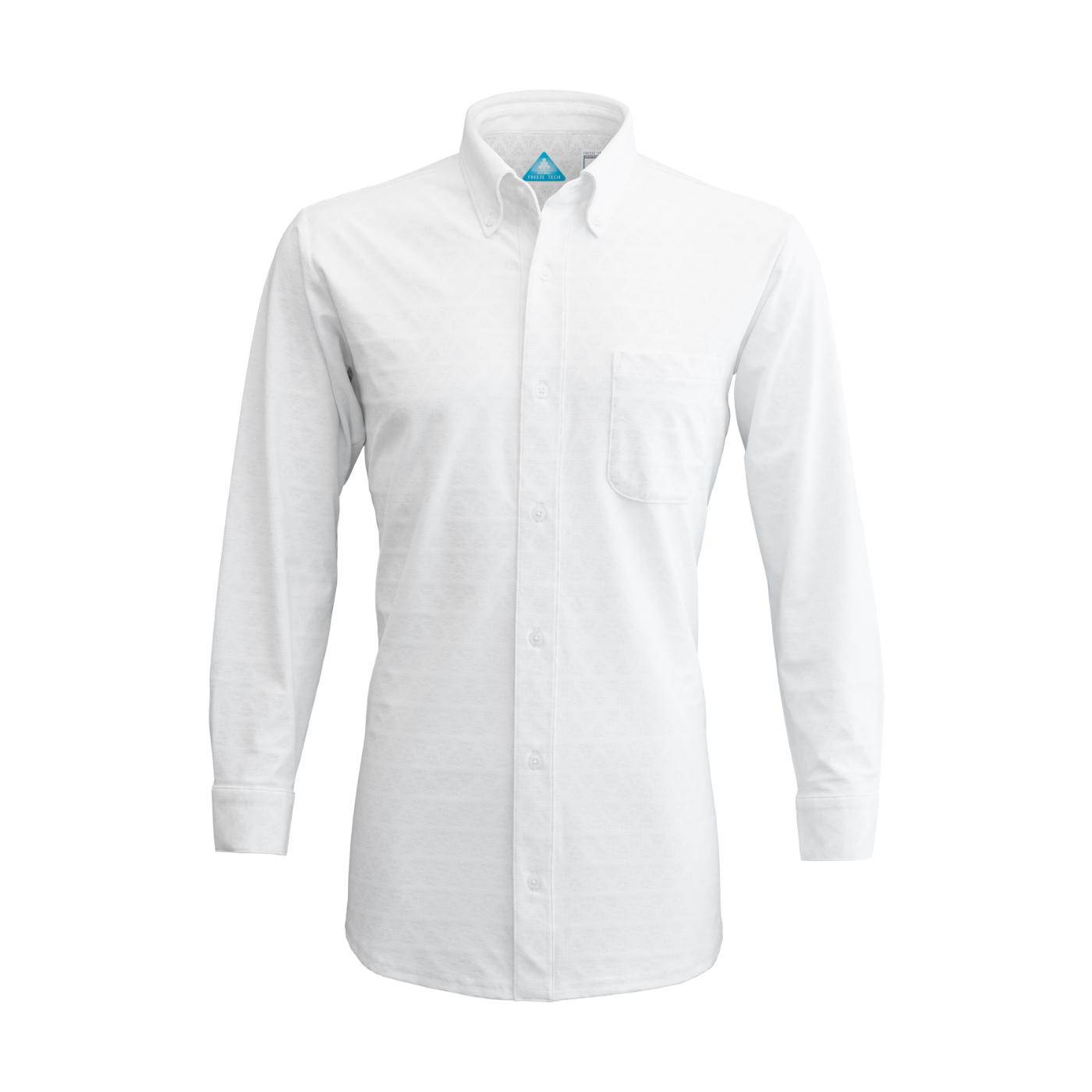 写真:冷却長袖ボタンダウンシャツ