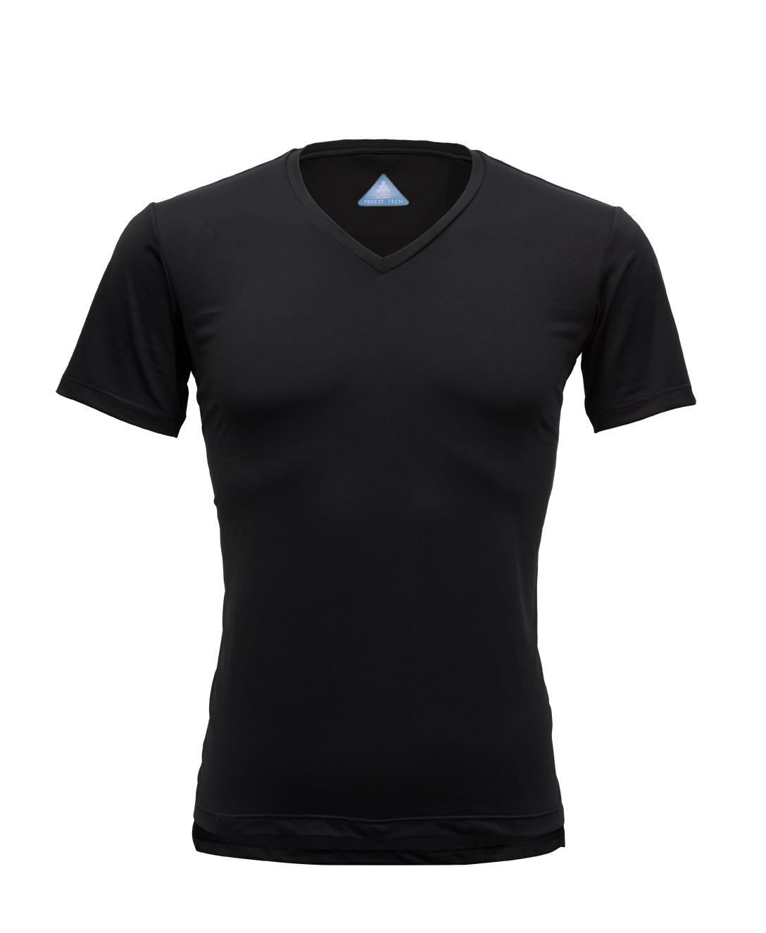 写真:冷却インナーシャツ 半袖 Vネック